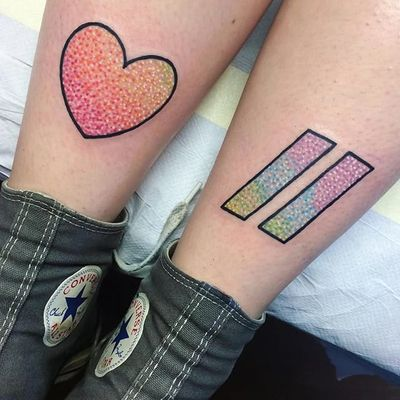 Equality (via IG—ellawiseman) #PrideTattoo #PrideFlag #LGBT #Equality #Rainbow #RainbowTattoo