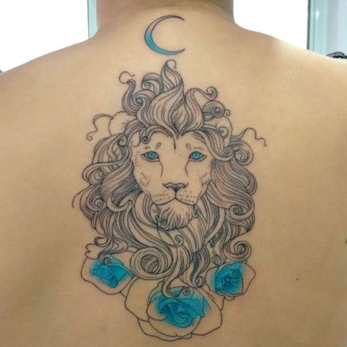 #LucasFranca #brazil #brasil #brazilianartist #tatuadoresdobrasil #blackwork #aquarela #watercolor #leao #lion #flor #flower #rosa #rose #lua #moon