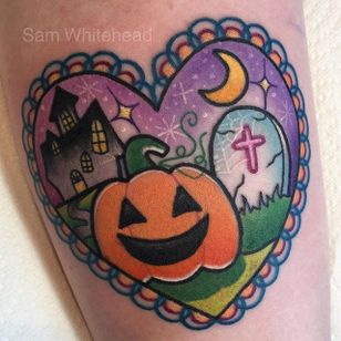 Halloween's not so spooky with some pastels thrown in. By Sam Whitehead. #cute #pastel #Halloween #pumpin #jackolantern #SamWhitehead