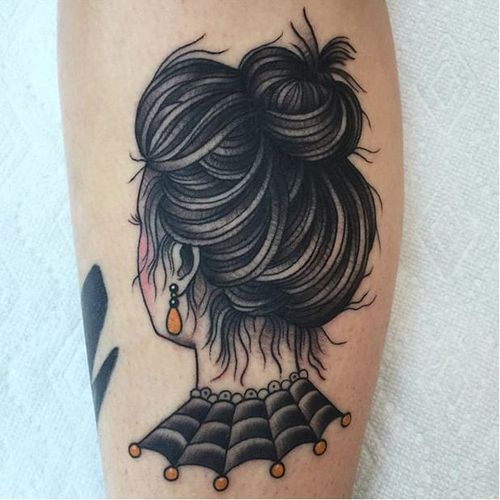 Spooky lady via @deandenney #DeanDenney #traditional #ladyhead