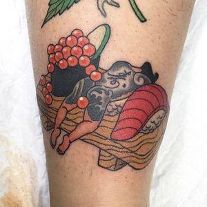 Sushi by Makoto #Makoto #color #sushi #japanese #tattoooftheday