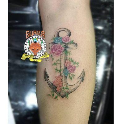 #BibiCardosoSoares #summer #verao #anchor #ancora #flowers #flores #TatuadorasDoBrasil