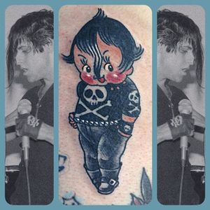 Danzig kewpie tattoo by Stacey Martin Smith. #kewpie #kewpiedoll #StaceyMartinSmith #Danzig