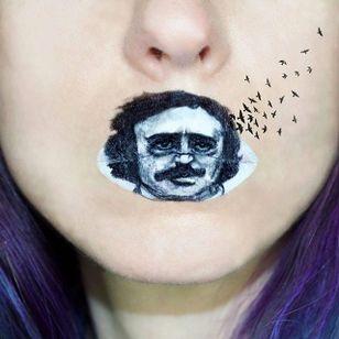 Beethoven Portrait Lip Art by @Ryankellymua #Lipart #Makeupart #Makeup #Ryankellymua #Portrait #Beethoven