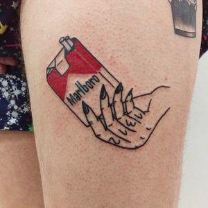 Trash Flash tattoo. #TrashFlash #trashflash666 #satatttvision #trash #offbeat #cigarette