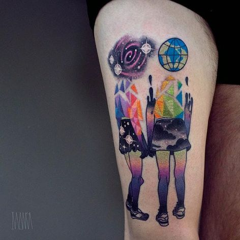 Gradient tattoo by Ilona Kochetkova. #IlonaKochetkova #gradient #hue #color #mix #swatch #art