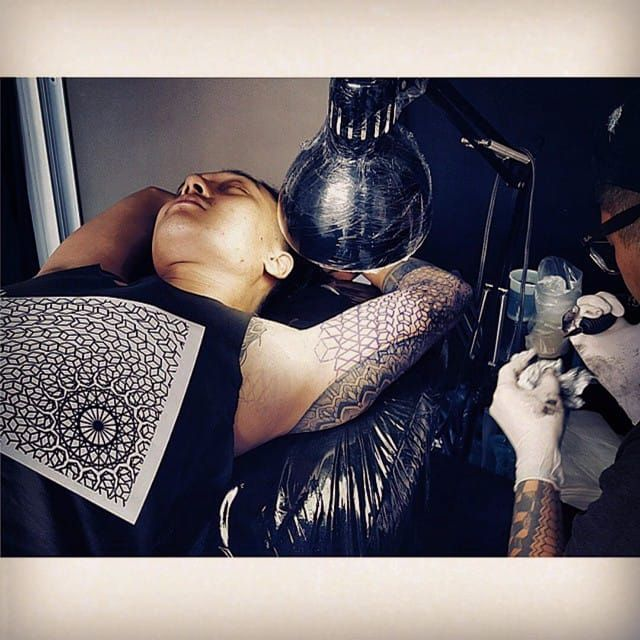 Tattoo session by Jared Asalli. #JaredAsalli #SoutheastAsia #Singapore #session