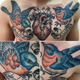 Bird Tattoo by Matt Buck #bird #birdtattoo #freehandbird #freehand #freehandtattoo #freehandtattoos #drawnon #drawnondesign #nostencil #nostenciltattoo #MattBuck