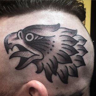 Eagle Head Tattoo by Ryan Buttar #EagleHead #EagleTattoo #TraditionalEagle #Traditional #RyanButtar
