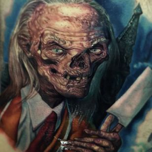 Tales from the Crypt by Paul Acker (via IG-paulackertattoo) #horror #horrorrealism #portrait #color #realism #halloween #TalesfromtheCrypt #PaulAcker