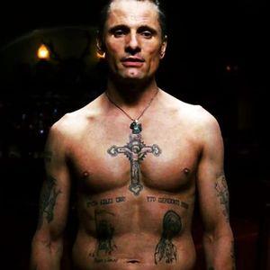 Vigo Mortensen covered in Russian prison tattoos from Eastern Promises. #cinema #EasternPromises #film #tattoosinmovies #tattooedcharacters #VigoMortensen