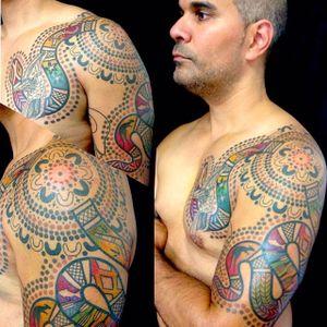 Serpent Tattoo by Tatu Lu #serpent #aboriginal #aboriginalart #australian #australianartist #culturalart #TatuLu