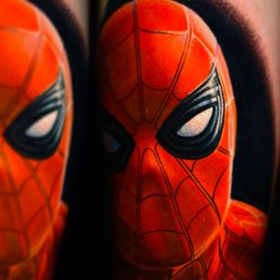 Spiderman Tattoo by Nikko Hurtado @NikkoHurtado #NikkoHurtado #Cinematic #Portrait #Spiderman