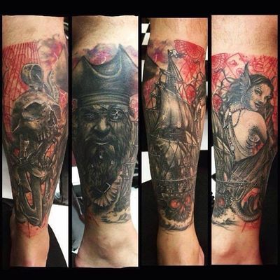 #SuliéePepper #TatuadoraBrasileira #tatuadorasbrasileiras #realism #realismo #sereia #mermaid #pirate #skull #ship
