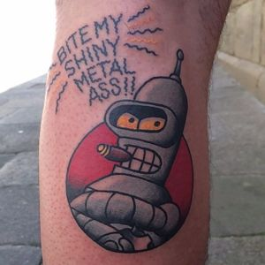 Bender Tattoo by Miguel Mike #Bender #Futurama #robot #cartoon #MiguelMike