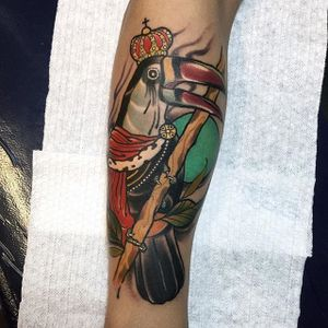 Toucan royalty tattoo by Sulhong Tattooer. #neotraditional #royalty #bird #toucan #SulhongTattooer