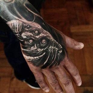 Goat Tattoo by Matias Felipe #goat #darkart #darkink #darkartist #blackwork #blackandgrey #MatiasFelipe