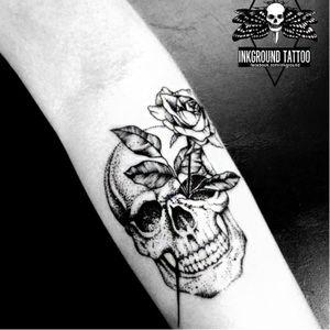 #caveira #skull #flor #flower #CarlaCrisper #fineline #delicadas #minimalistas #TalentoNacional #brasil