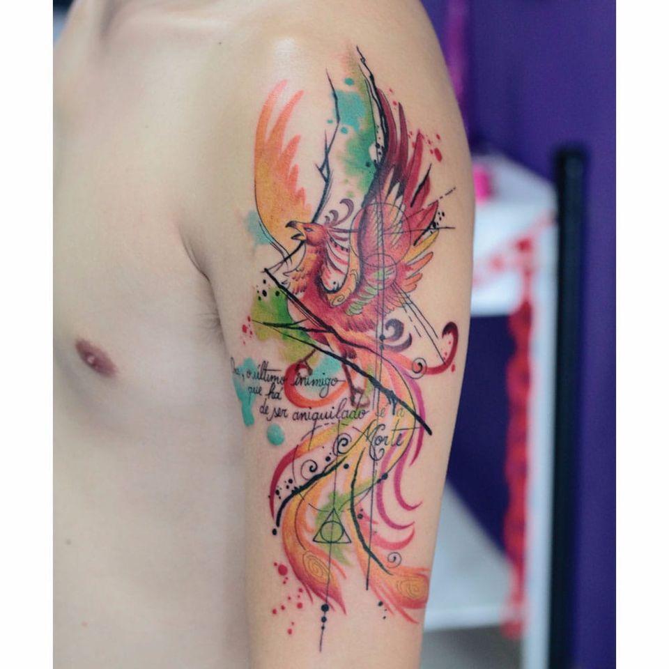 Por Deh Soares! #DehSoares #TatuadorasBrasileiras #phoenix #phoenixtattoo #fenix #fenixtattoo
