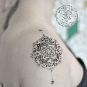 Mandala tattoo by Marie Roura #MarieRoura #graphic #spiritual #geometric #mandala