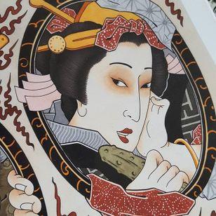 Geisha by Jan Willem #japanese #traditionaljapanese #irezumi #JanWillem