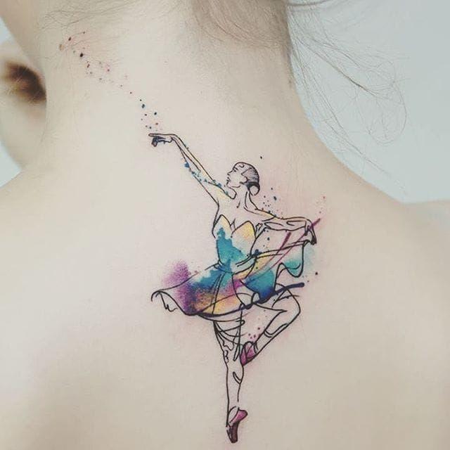 #MissPank #balé #ballet #dance #dança #ballettattoo #bailarina #balerina #woman #mulher #aquarela #watercolor #colorido #colorful