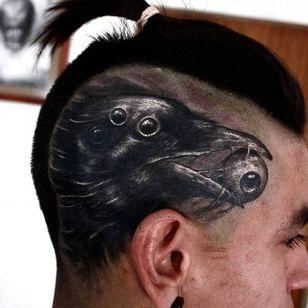 Raven Tattoo by Matias Felipe #raven #darkart #darkink #darkartist #blackwork #blackandgrey #MatiasFelipe
