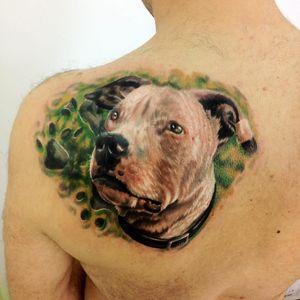Tatuagem feita por Kobay Kronik! #KobayKronik #cachorro #dog #realismo