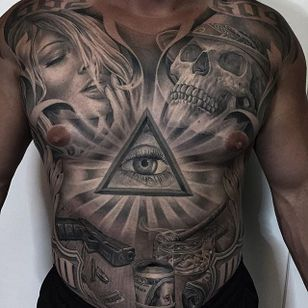 All Seeing Eye by Greg Nicholson (via IG-evilkolors) #realism #blackandgrey #finelined #gregnicholson