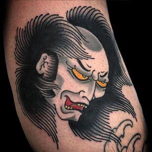 Namakubi tattoo by Eddy Ospina. (Via IG - eddyospina