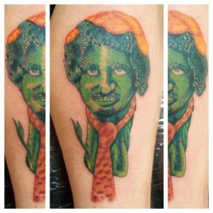 The Broccoli man with a cheese tie, by Thomas Green #broccolitattoo #thomasgreen
