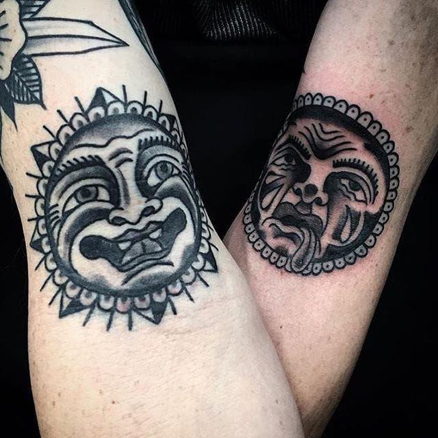 Bert Grimm Sun Tattoo by Rob Mopar #sun #bertgrimm #bertgrimmsun #bertgrimmdesign #classicsun #traditional #RobMopar