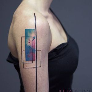 Abstract tattoo By Julia Rehme #abstract #JuliaRehme