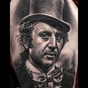 Dapper gentleman portrait Tattoo by Javier Antunez @Tattooedtheory #JavierAntunez #Tattooedtheory #Blackandgrey #Realistic #Dapper #Gentleman