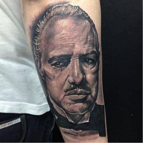 #thegodfather #poderosochefao #realismo #realismopretoecinza #blackandgrey #newschool #DouglasScherer #brasil #brazil #portugues #portuguese