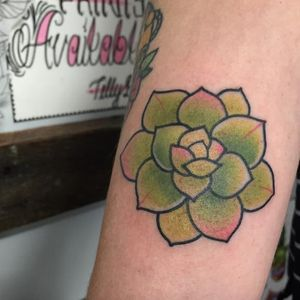 Cute succulent tattoo by Tilly Dee #TillyDee #succulent #plant #botany #nature (Photo: Instagram)