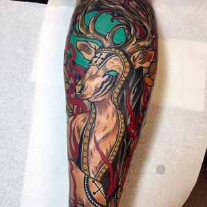 Deer Tattoo by Sulhong @Sulhong_Tattooer #SulhongTattooer #Animal #Animaltattoo #SouthKorea #Korea #SulhongArt #Deer