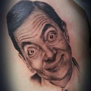 Mr Bean by John Nathan (via IG --john.nathan.714) #JohnNathan #mrbean #mrbeantattoo