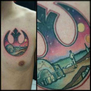 Rebel Alliance Tattoo by Stephen Monnet #RebelAlliance #RebelAllianceTattoo #StarWarsTattoo #ForceAwakens #StarWars #StephenMonnet
