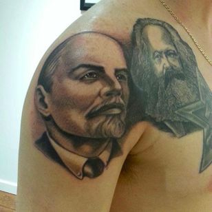 Lenin and Marx by Bob Paulin (via IG -- bobpaulin) #bobpaulin #lenin #marx #communism