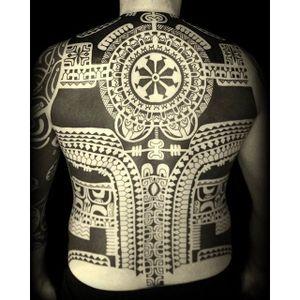 Polynesian. (Instagram: @babakhintatau) #largescale #blackwork #polynesian #backpiece #Babakhin