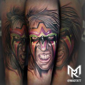 Ultimate Warrior Tattoo by Maddalena Ruggiero #UltimateWarrior #WWE #wrestling #portrait #MaddalenaRuggiero
