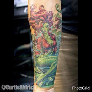 Poison Ivy Tattoo by Curtis Aldrich #poisonivy #posionivypinup #pinup #batman #dc #comics #comicbook #CurtisAldrich
