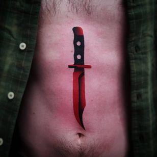 Dagger tattoo by Uve #Uve #graphic #redink #bold #popart #sword #knife #blade #dagger