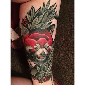 Red panda all healed up. #JohnnyDomus #neotraditional #traditional #redpanda #animals