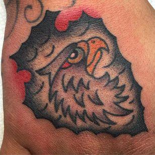 Eagle Head Tattoo by @bgattsst #EagleHead #EagleTattoo #TraditionalEagle #Traditional