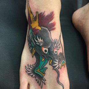 Dragon Head Tattoo by Lango Oliveira #dragon #dragonhead #japanese #japaneseart #irezumi #LangoOliveira