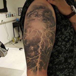 Lightning by JP Wikman (via IG-jpwikman) #blackandgrey #realism #surrealism #JPWikman