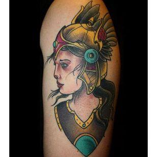 Valkyrie Tattoo by Jose Sanchez #ValkyrieTattoo #Valkyrie #NorseMythology #NorseTattoos #NordicTattoo #JoseSanchez