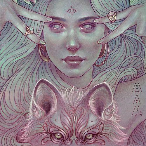 Marta Adán Illustration. #artist #MartaAdan #portrait #tattooart #tattooillustration #women #tattooedwomen #fineart